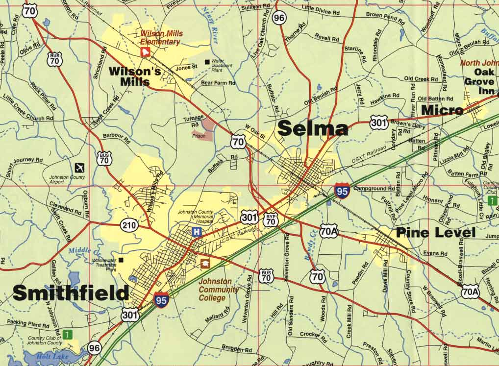 Smithfield Nc Homes Local Map